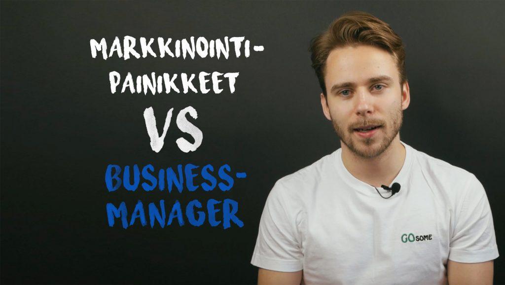 Facebook business manager vs markkinointipainikkeet