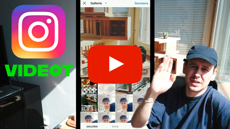 Videoiden lisääminen Instagramiin