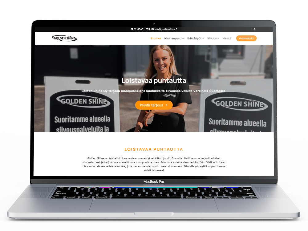 Golden Shine verkkosivut