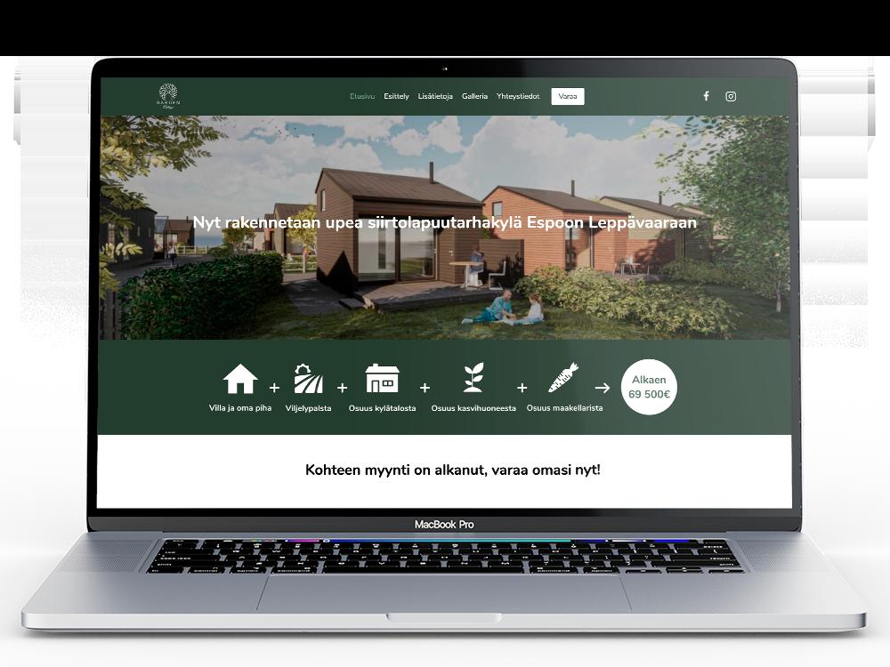 Garden Village verkkosivut