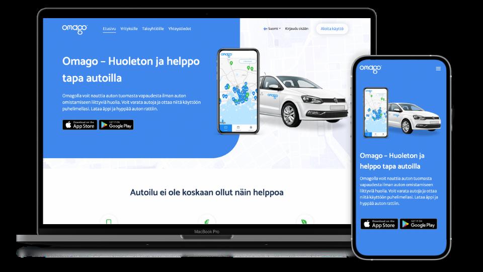 GOsomen tekemät verkkosivut Omago.fi